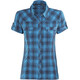 Bergans Leknes Shortsleeve Shirt Women blue